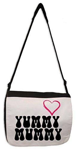 (Tribal T-Shirts Yummy Mummy Laptop Messenger Bag)