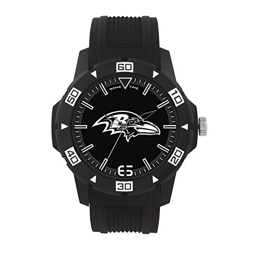 NFL Baltimore Ravens Mens Automatic Series Wrist Watch, Black, One Size ()