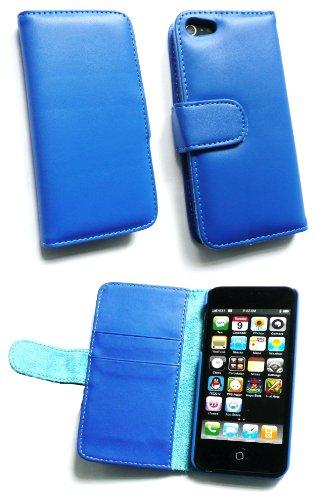 Emartbuy ® Apple Iphone 5 Prime Pu Cuir Wallet Case / Couverture / Pochette Avec Fentes De Carte De Crédit Bleu