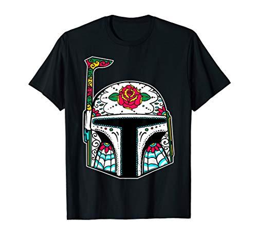 - Star Wars Boba Fett Sugar Skull Mandalorian Helmet T-Shirt