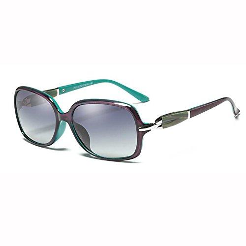 Gafas Polarizada Retro xin Cara Pequeña Redonda Pequeña Gradual Cambio Tea Luz Purple De Moda Caja Cara WX Elegante Sol Color Manejar xFnZzE