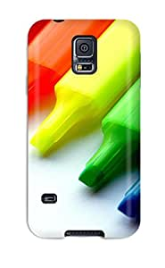 For BxyYAce7715veghD Marker Artistic Colors Blue Red Green Yellow Pen Abstract Artistic Protective Case Cover Skin/galaxy S5 Case Cover