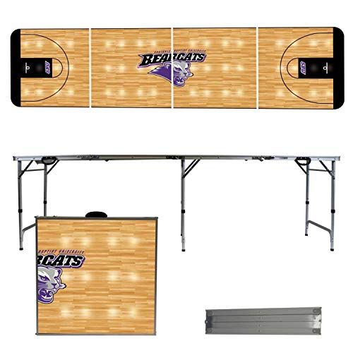 - Victory Tailgate NCAA Southwest Baptist University 8'x2' Foldable Tailgate Table with Adjustable Hight and Spill Resistant Sealant - Basketball Court Series