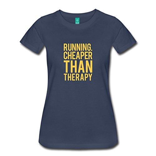 Spreadshirt Women's Running - Therapy T-Shirt, navy, L