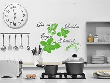 Wandtattoo Wandaufkleber Sticker Gewürze für Küchenwand Motiv: #76 ...