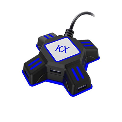 KX USB Game Controller Converter Keyboard Mouse Adapter for Switch/Xbox/PS4/PS3 - Black ()