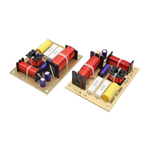 (uxcell 2Pcs 3-Way 180W Speaker System Audio Crossover Filters Frequency Distributor )
