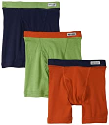 Fruit of the Loom Little Boys\' Assorted Color Boxer Brief  ,Assorted,4T(Pack of 3)