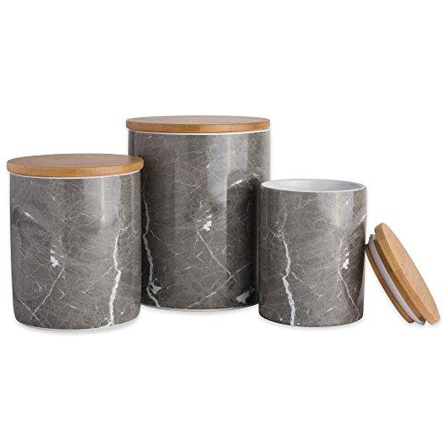- DII CAMZ38971 Black Marble Ceramic Canister Set/3