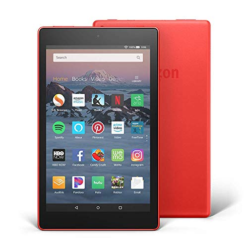 """Certified Refurbished Fire HD 8 Tablet (8"""" HD Display, 32 GB) - Red with Show Mode Charging Dock"""