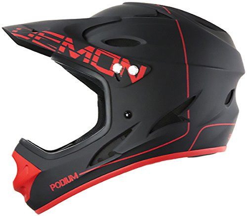Demon United Podium Full Face Helmet Black/Red Lrg