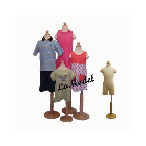 4 units of children body dress forms as display mannequins with partial legs (6 months,1-2, 3-4, and 6-8 years old)