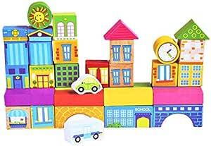 City Traffic Wooden Toys Building Sets  Blocks
