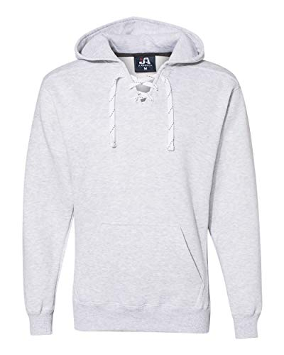 Lace Hooded (J. America - Sport Lace Hooded Sweatshirt - 8830 - XXS - Ash Heather)