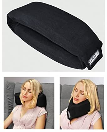 Amazon Com Anywhere Travel Neck Pillow Black 2 Quot H X 4 Quot W