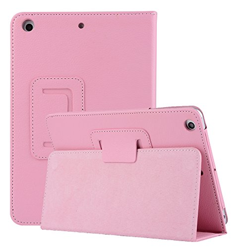 Price comparison product image iPad Mini 5 2019 New Case for Kids Women, Litchi Stria Design Ultra Magnetic PU Leather with Stand Smart Auto Sleep / Wake Feature Case Cover for iPad Mini 5 7.9 inch 2019 Release / iPad Mini 4 2015-Pink