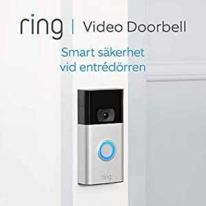 Nya Ring Video Doorbell | 1080p HD-video, avancerad rörelsedetektion och enkel installation