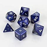 Gravity Dice Metal POLYHEDRAL 7 DICE Set Navy Blue