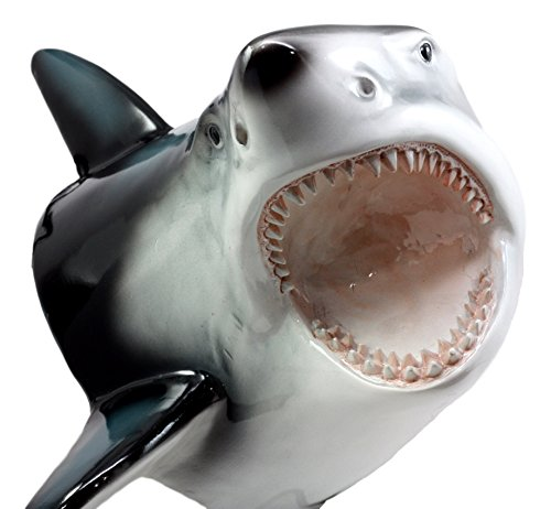 Ebros Great White Shark Trophy Wall Decor Sculptural Hanging Plaque 12