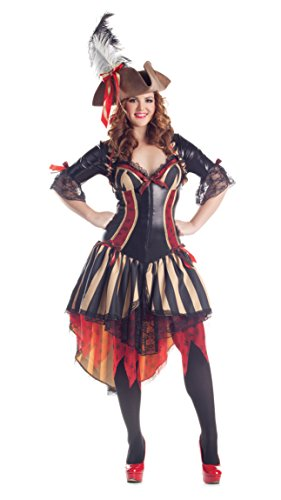 Pirate Body Shaper Adult Costume - Plus Size 3X