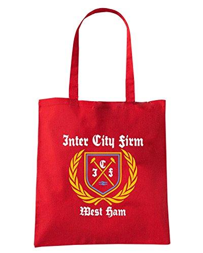 T-Shirtshock - Bolsa para la compra TR0076 inter city firm icf t-shirt Rojo