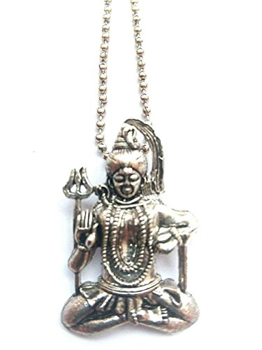DevDeep Mix METAL Lord Shiva (MAHADEV/SHIVJI) Pendant WITH CHAIN A+++ Quality with free Velvet Pouch]()