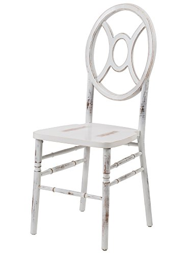 Commercial Seating Products W-422-VR-TWIN-LWW Wood Dining Chair, Lime Wash White (White Stacking Wood Chairs)