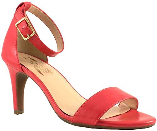 Aerosoles Womens Laminate Ankle Strap Dress Sandal Pink Leather Size 5.5