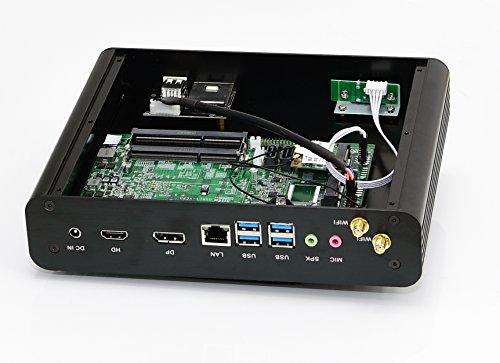 Kingdel® Mini de Escritorio Computadora, 4K HTPC con Intel 7th Gen. i7 CPU, 16GB RAM, 256GB SSD, 4096x2304, HDMI, DP, 4*USB 3.0, lector de tarjetas, WiFi, ...
