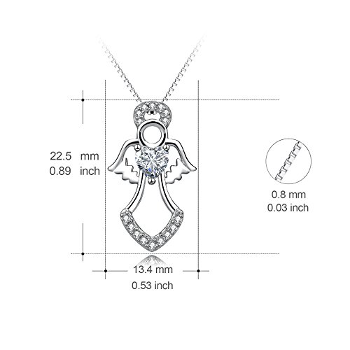 Amazon yfn holy guardian angel wing heart 925 sterling silver amazon yfn holy guardian angel wing heart 925 sterling silver women pendant necklace 18 angel necklace jewelry ccuart Gallery