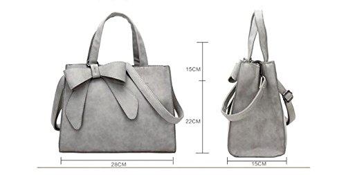 La mujer bolsos de cuero Bolsos de las mujeres Bolsos Bolso Messenger Bolso Bolsa femenina LS4934 gris claro Pink Bag