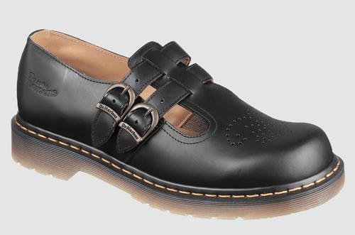 Dr Martens Women's 8065 Mary Jane Buckle Leather Shoe Black-Black-5