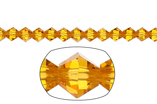 bicone Crystal beads Sunflower faceted Xilion crystal for Jewelry Making mm 74cnt