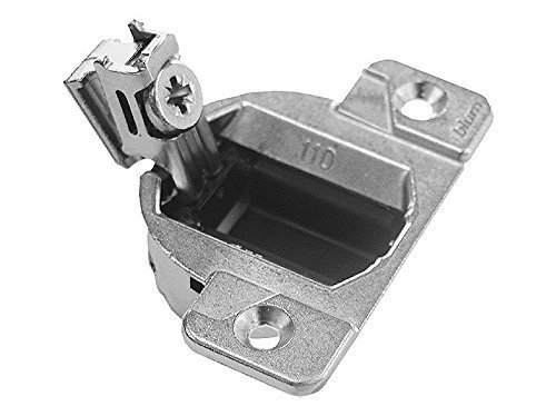 Blum 33.3600 Compact 33 Screw on 110 Degree Opening Face Frame Hinge, Zinc Die-Cast (Pack of 20) with Installation Screws and Bumpers - Hinges for - Hinge Compact Blum