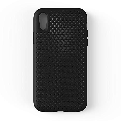 トレース汗間隔AndMesh iPhone XR ケース メッシュケース Qi 充電 対応 耐衝撃 | 黒 ブラック AMMSC901-BLK