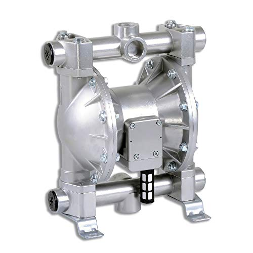 "Fuelworks Double Diaphragm Transfer Pump 1"" Nitrile/NBR/Buna-N - 24GPM / 90LPM Heavy Duty Aluminium Air Operated Pneumatic for Diesel, Grease, Kerosene & Oil"