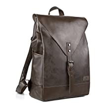 Koolertron Classic Casual Synthetic Leather Vintage Fashion School College Book Bag Daypack Laptop Backpack Perfect for Camping Travel