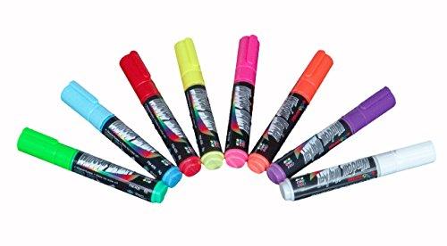 Displays2go Set of 8, Liquid Chalk Wet Erase Markers, 5/1...