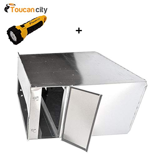 Return Air Plenum - Toucan City LED Flashlight and Master Flow 20 in. x 25 in. Dual Filter Plenum Kit - R6 Insulated PK2025DFR6