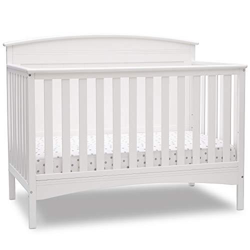 Delta Children Archer Deluxe 6-in-1 Convertible Crib, Bianca White
