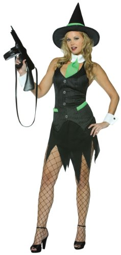 Women (Std. 4-10) Womens Gangster Witch (Fishnets/Gun Purse Sold Separately)