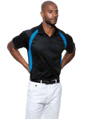 Cooltex® Riviera Poloshirt - Farbe: Black/Flourescent Lime - Größe: XL