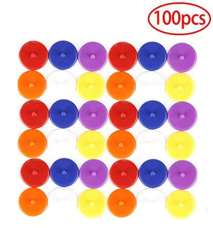 100pcs Golf Position Marker Flat Round Plastic Golf Ball Multicolor Markers Mark Golfer Accessories 24mm