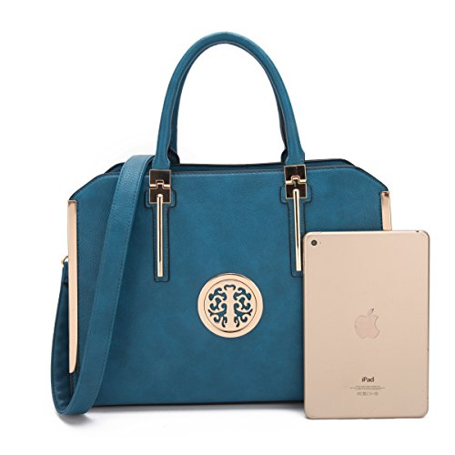 MMK Fashion Handbag for Women Classic Satchel handbag Designer Top handle purse Trending Hobo Tote bag 2 pieces(Handbag/wallet) Set (B-7555-W-BD) by 1988 Marco M.Kelly (Image #3)