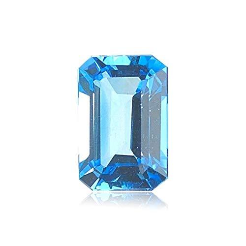 1.75-2.30 Cts of 8x6 mm AAA Emerald Cut Swiss Blue Topaz ( 1 pc ) Loose Gemstone ()