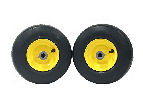 John Deere Pneumatic Tire Assemblies 11x4.00-5 Yellow Fits F620 - F680 - F687 ZTrak, 200 - HD200 - HD300, 1600 Wide Area
