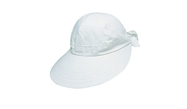 TROPICAL TRENDS New White FACE Saver Visor Elastic Bow Detail (L70TT) at  Amazon Women s Clothing store  1224e95e3b6d