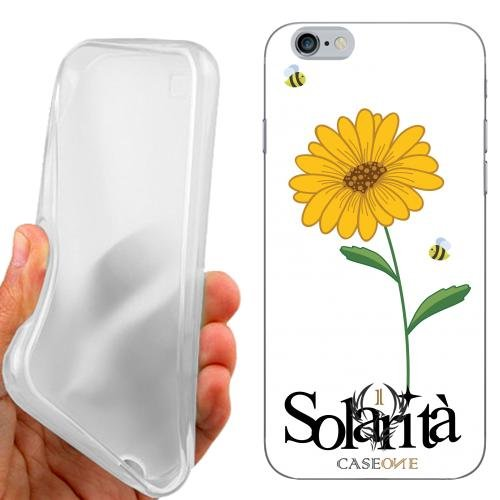 CUSTODIA COVER CASE CASEONE GIRASOLE SOLARITA BIANCO PER IPHONE 6S