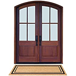 "DeCoir 24"" x 60"" 'Classic Border' Large Coir Double Door Mat"