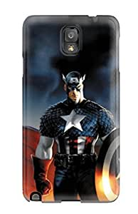 Galaxy Note 3 FtvnBVS4350ujljR Amazing American Thor Captain America Iron Man Cartoon Tpu Silicone Gel Case Cover. Fits Galaxy Note 3